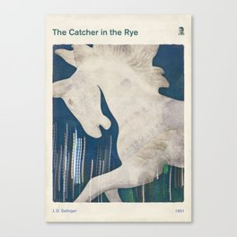 J. D. Salinger's The Catcher in the Rye - Literary book cover design Canvas Print