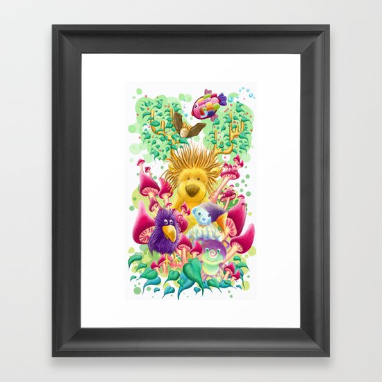 The guardian of nature Framed Art Print