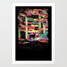 Weird Woods Art Print