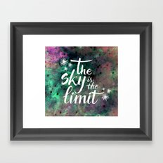 The sky is the limit Framed Art Print