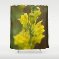 montana Shower Curtains featuring Montana  Wildflower by Lori Anne Photography