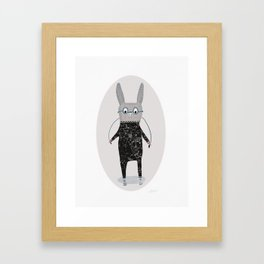 Jumping Jack Cartoon Rabbit, Time for Funny Bunny Jumps Framed Art Print