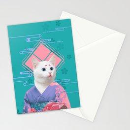 Geisha cat 02 Stationery Cards