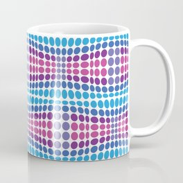 Dottywave - Blue Purple wave dots pattern Coffee Mug