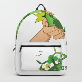 Make Our Planet Great Again Save The Plane Backpack