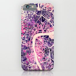 London Mosaic Map #2 iPhone Case