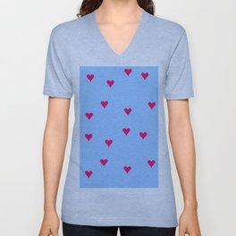 little hearts Unisex V-Neck
