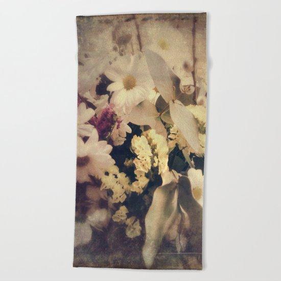 Flowers of Nostalgia Beach Towel