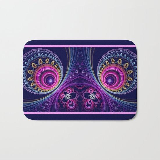 Colourful circles and patterns Bath Mat