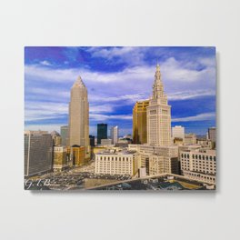 Cleveland in Full Color Metal Print