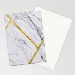 Golden classic marble Stationery Cards
