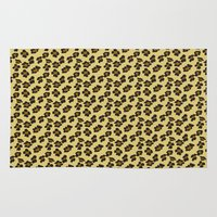 leopard Area & Throw Rugs featuring Leopard by Lena Photo Art