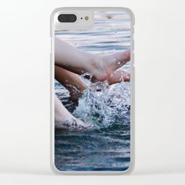 Feet in Water Clear iPhone Case