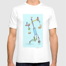 Could'a Been the Teapot MEDIUM White Mens Fitted Tee