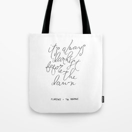 Before the Dawn. Tote Bag