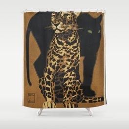 Zoologischer Garten Munchen by Ludwig Hohlwein Shower Curtain