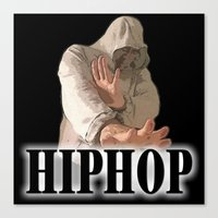 hiphop Canvas Prints featuring HIPHOP GUY by Robleedesigns