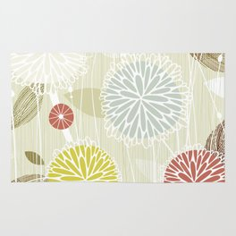 Abstract Floral Beige by Friztin Rug