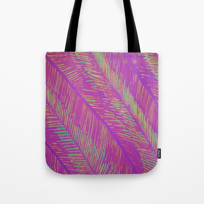 Neon Summer Palms Tote Bag