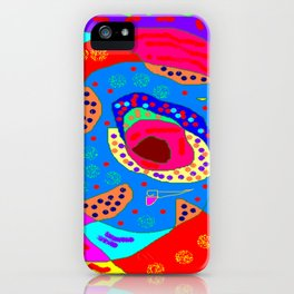 Orange spots iPhone Case