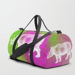 Color Spot Safari Rhinoceros Duffle Bag