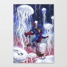 Snow Jellies Canvas Print