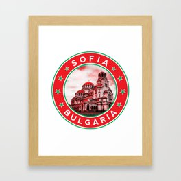 Sofia, Bulgaria, Alexander Nevsky Cathedral, circle, red Framed Art Print