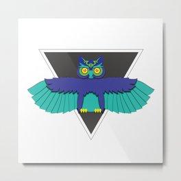 EDC Owl Metal Print