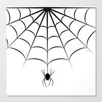 spider Canvas Prints featuring Spider by haroulita