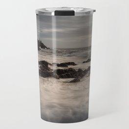 Sea foam on Bracelet Bay Travel Mug