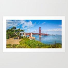 The Golden Gate Bridge. Art Print