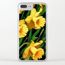 Bouquet Of Golden Spring Daffodils Clear iPhone Case
