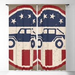 Patriotic Off Road 4wd Logo Blackout Curtain