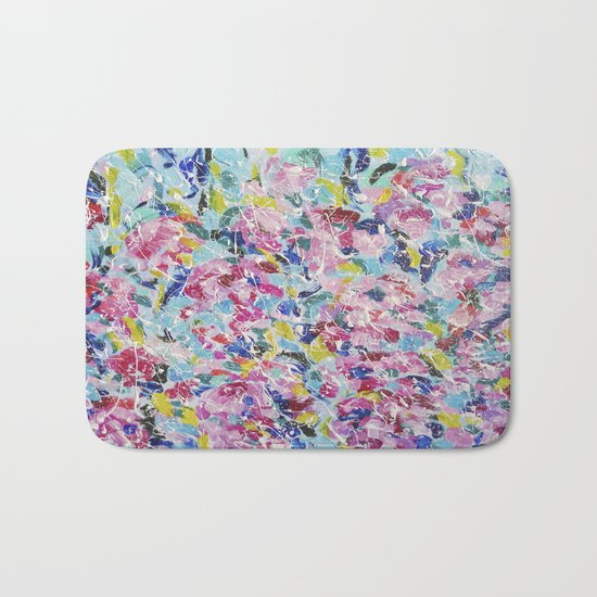 Abstract floral painting 2 Bath Mat