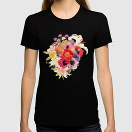 Lovely Colorful Flower Bouquet Watercolor T-shirt