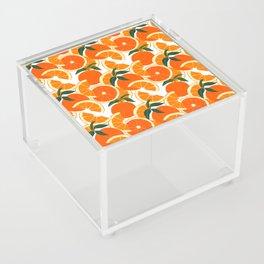 Orange Harvest - White Acrylic Box