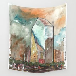 The Fountain Place Wall Tapestry