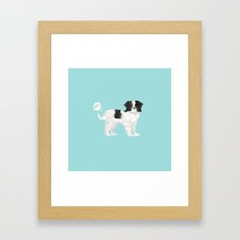 japanese chin farting dog cute funny dog gifts pure breed dogs Framed Art Print