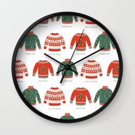 Christmas jumpers Wall Clock