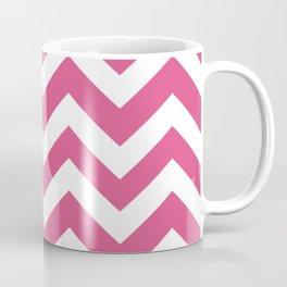 Fandango pink - pink color -  Zigzag Chevron Pattern Coffee Mug