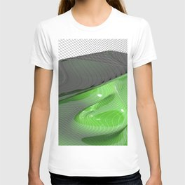 Waving green mathematical surface T-shirt