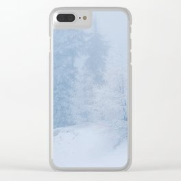 Frozen trees Clear iPhone Case