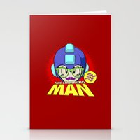 smiths Stationery Cards featuring 8-bit Smiths - This Charming Mega Man by Butcher Billy