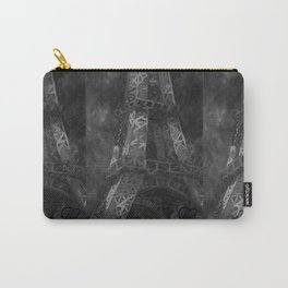 Eiffle Tower by Lu, Black and White Carry-All Pouch