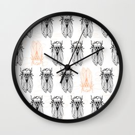 Cicada Army Rising Wall Clock