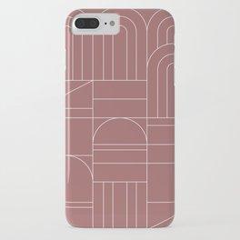 Deco Geometric 04 Dark Pink iPhone Case