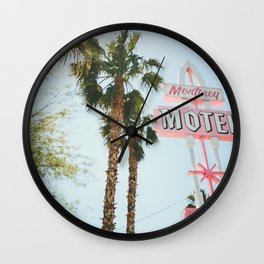 Motel Vintage Sign Wall Clock