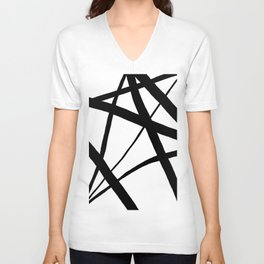 A Harmony of Lines and Shapes Unisex V-Neck