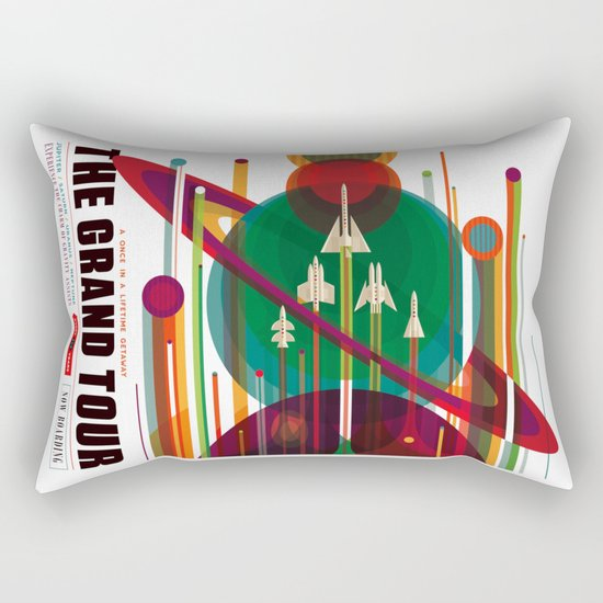 NASA/JPL Poster (The Grand Tour) Rectangular Pillow