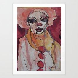a clown - Jean-Louis Moray Art Print